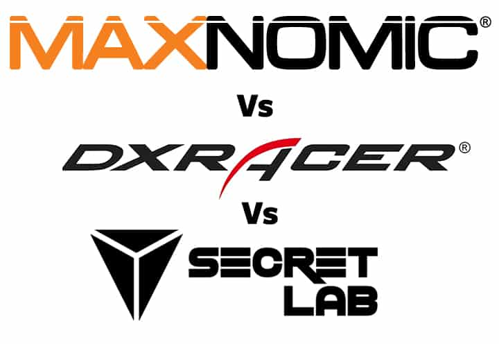 Maxnomic vs DXRacer vs Secretlab