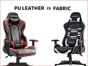 PU Leather vs Fabric Gaming Chairs